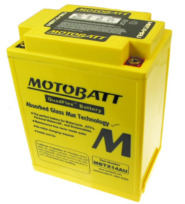 MotoBatt Quadflex Battery 12v 14ah